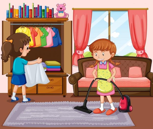 Хорошая гостиная для девочки