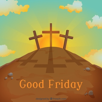 Good griday with crosses background