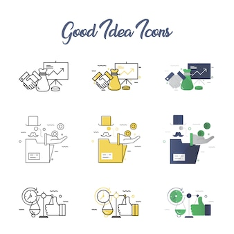 Good idea icon set