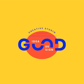 Good idea logo badge design