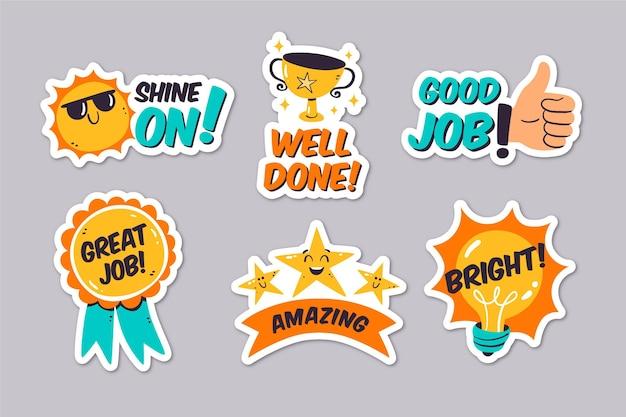 Good job and great job stickers set