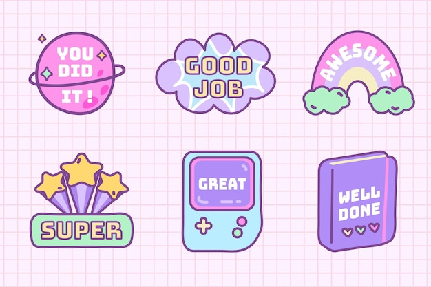 Good job stickers collection