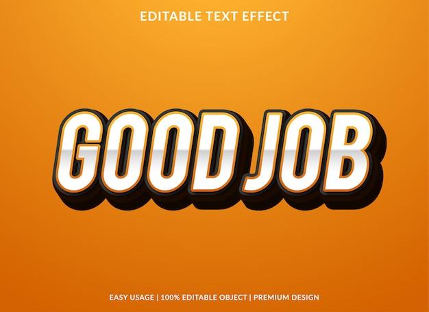 Good job text effect