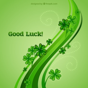 Good luck background Free Vector