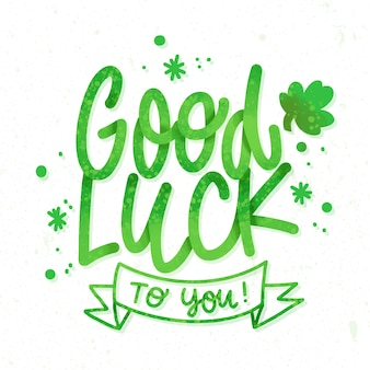 Good luck lettering st. patrick's day