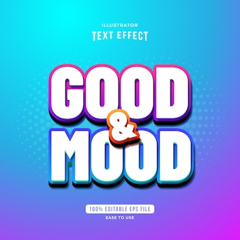 Good and mood beautiful gradient text effect