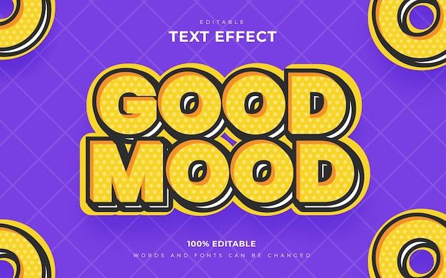 Good mood retro editable text effects style