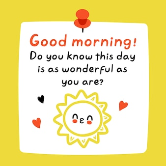 Good morning inspirational quote card