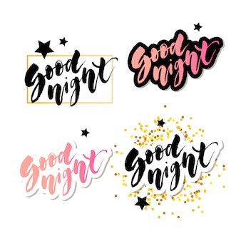 Good morning lettering text vector illustration calligraphy