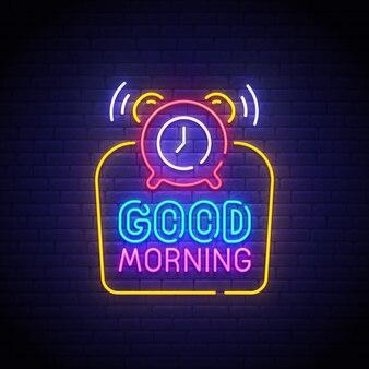 Good morning neon sign