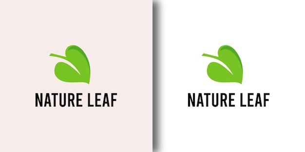 Шаблон дизайна логотипа ресторана good nature leaf