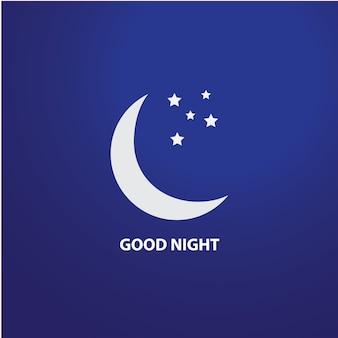 좋은 밤 로고 템플릿 디자인