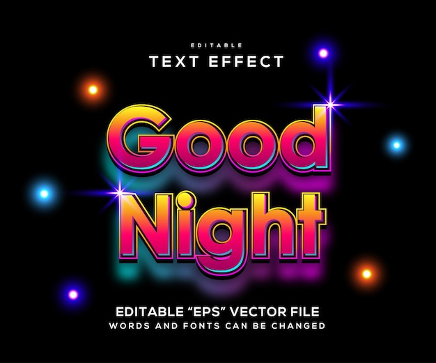 Good night style text effect