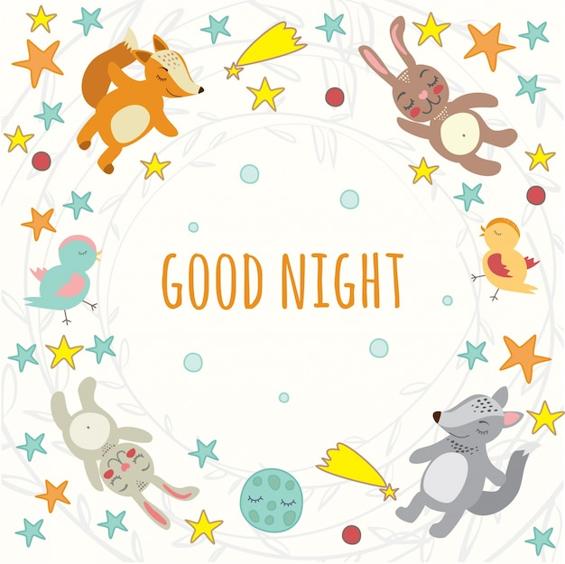 Good night Free Vector