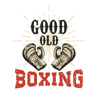 Good old boxing.   illustration.