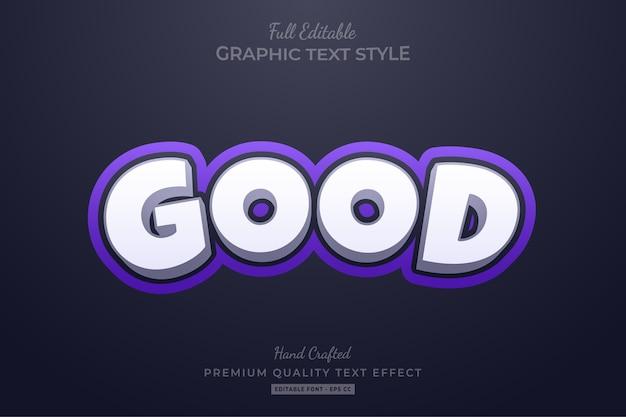 Хороший фиолетовый элегантный редактируемый эффект стиля текста премиум