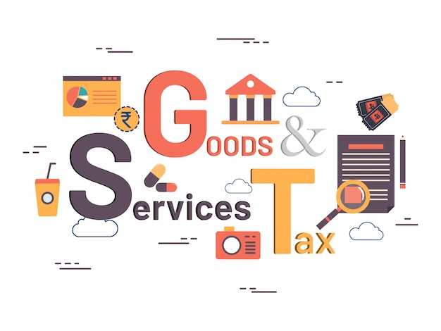Good service tax concept with financial elements