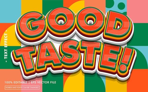 Good taste! text effect style