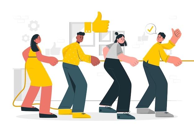 Good team concept illustration