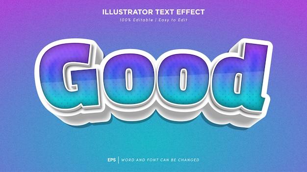 Good text effect editable font