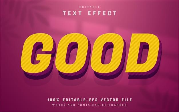 Good text, yellow text effect editable