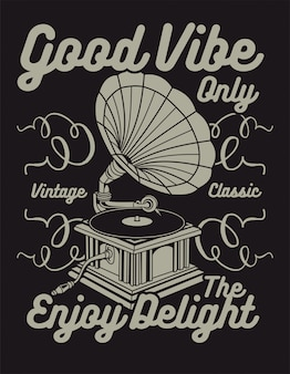 Good vibe only in vintage style