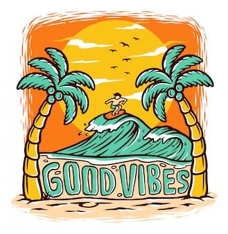 Good vibes illustration