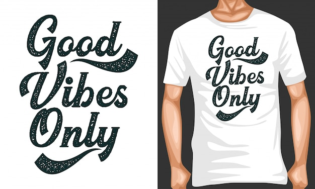 Good vibes lettering quotes typography