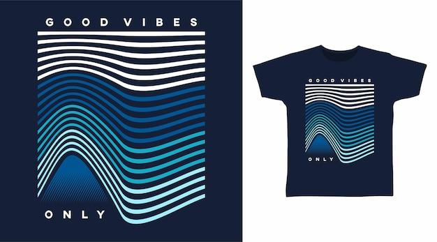 좋은 분위기 라인 아트 티셔츠 디자인