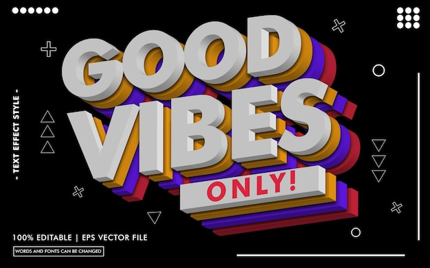 Good vibes only! text effects style