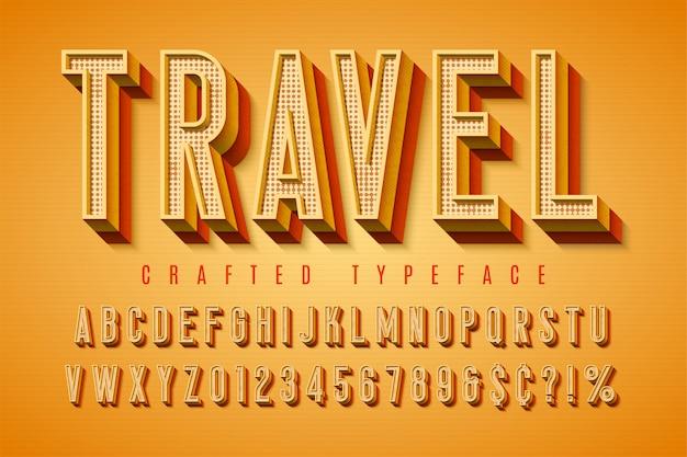 Good vibes retro typeface. 3d display font