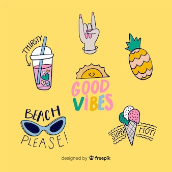 Good vibes stickers to decorate photos