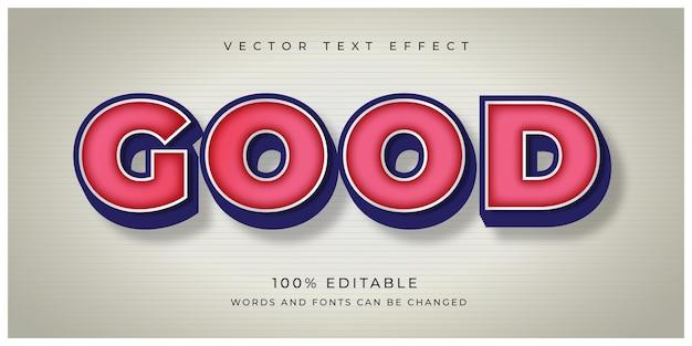Good vintage text effect