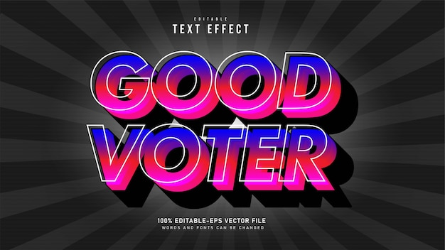 Good voter text effect