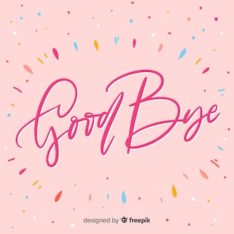 Goodbye colorful dots background