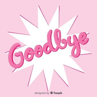 Goodbye overloped star lettering background