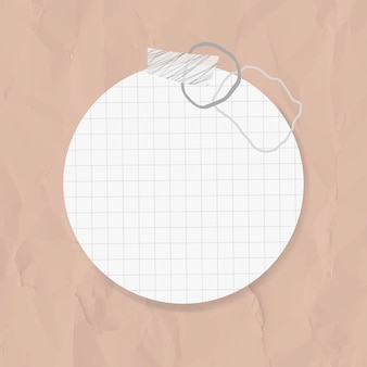 Goodnotesステッカーはメンフィススタイルの円の紙の要素をベクトルします