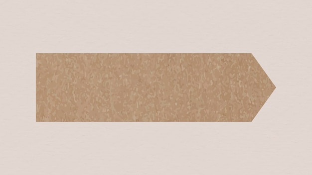 Goodnotesステッカーベクトル要素、茶色の和紙テープ
