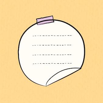 Vettore di adesivi goodnotes su sfondo giallo pastello