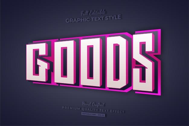 상품 핑크 3d 편집 가능한 텍스트 효과 글꼴 스타일