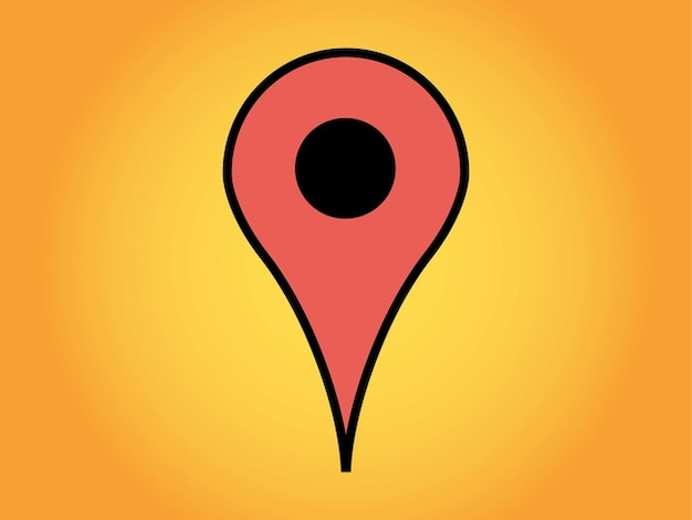 Google maps geographic marker vector