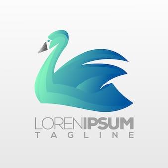 Goose logo template