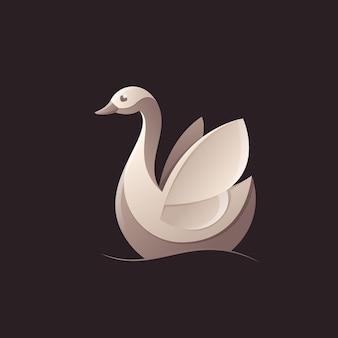 Гусь, лебедь, птица л. дизайн животных