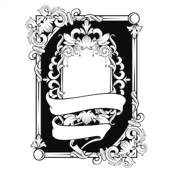 Gorgeous baroque frame with blank space