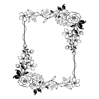 Gorgeous floral frame with blank space