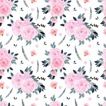 Gorgeous pink floral seamless pattern