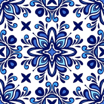 화려한 원활한 지중해 타일 이슬람 배경 원활한 패턴