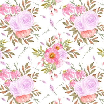 핑크 장미와 화려한 완벽 한 패턴