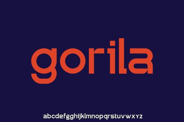 Горила, современный геометрический городской шрифт