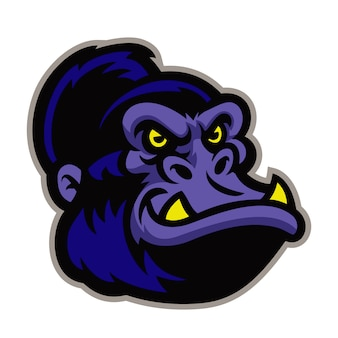 Gorilla cartoon head